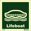 LIFEBOAT  (15x15cm) Phot.Vin. IMO sign 104100