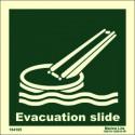 EVACUATION SLIDE  (15x15cm) Phot.Vin. IMO sign 104105