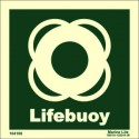 LIFEBUOY  (15x15cm) Phot.Vin. IMO sign 104106