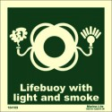LIFEBUOY WITH L & SMOKE  (15x15cm) Phot.Vin. IMO sign 104109