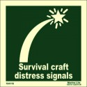 SURVIVAL CRAFT DISTRESS SIGNAL  (15x15cm) Phot.Vin. IMO sign 104116