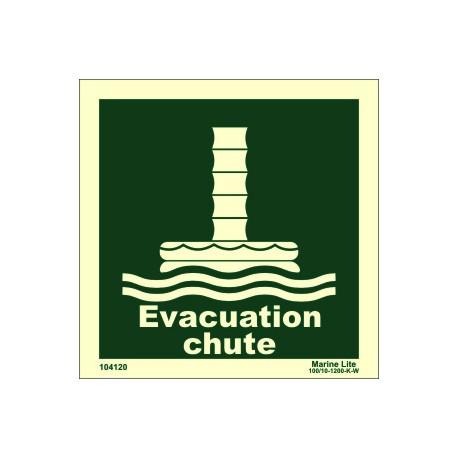 EVACUATION CHUTE  (15x15cm) Phot.Vin. IMO sign 104120