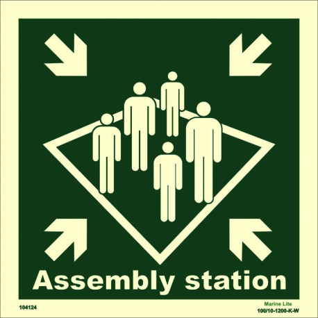 ASSEMBLY STATION  (30x30cm) Phot.Vin. IMO sign 104124