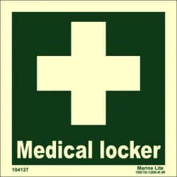 MEDICAL LOCKER  (15x15cm) Phot.Vin. IMO sign 104127