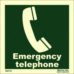 EMERGENCY TELEPHONE  (15x15cm) Phot.Vin. IMO sign 104131