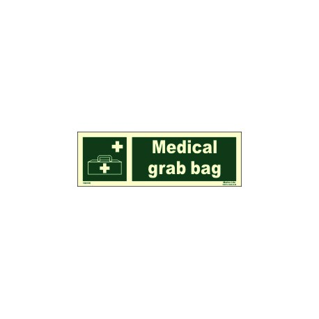 MEDICAL GRAB BAG  (10x30cm) Phot.Vin. IMO sign 104136