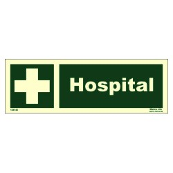 HOSPITAL  (10x30cm) Phot.Vin. IMO sign 104140