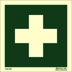 MEDICAL LOCKER  (15x15cm) Phot.Vin. IMO sign 104150
