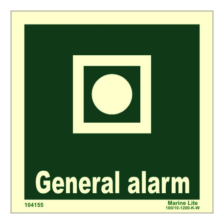 GENERAL ALARM  (15x15cm) Phot.Vin. IMO sign 104155