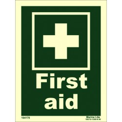 FIRST AID  (20x15cm) Phot.Vin. IMO sign 104170