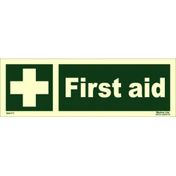 FIRST AID  (10x30cm) Phot.Vin. IMO sign 104171