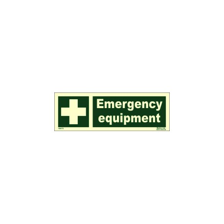 EMERGENCY EQUIPMENT  (10x30cm) Phot.Vin. IMO sign 104173