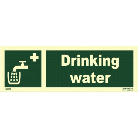DRINKING WATER  (10x30cm) Phot.Vin. IMO sign 104180