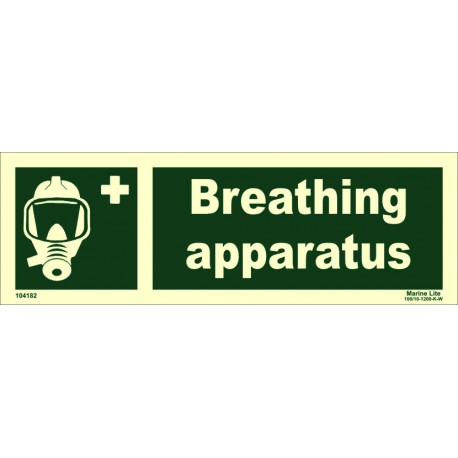 BREATHING APPARATUS  (10x30cm) Phot.Vin. IMO sign 104182