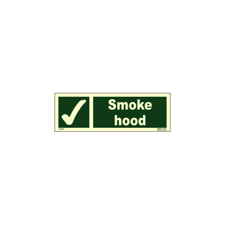SMOKE HOOD  (10x30cm) Phot.Vin. IMO sign 104183