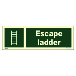 ESCAPE LADDER  (10x30cm) Phot.Vin. IMO sign 104188