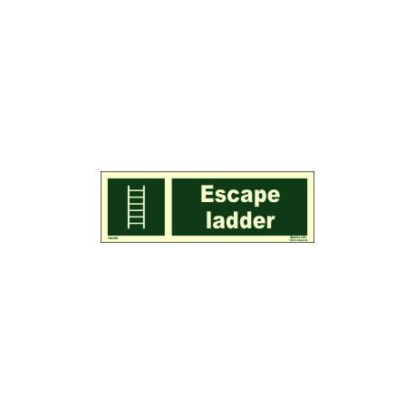 ESCAPE LADDER  (10x30cm) Phot.Vin. IMO sign 104188
