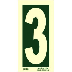 NUMBER 3  (15x7,5cm) Phot.Vin. IMO sign 104203