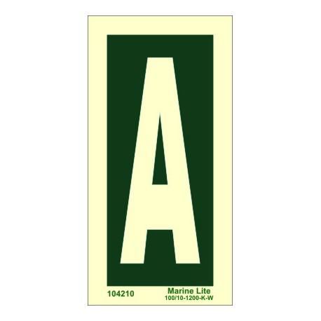 LETTER A  (30x15cm) Phot.Vin. IMO sign 104250