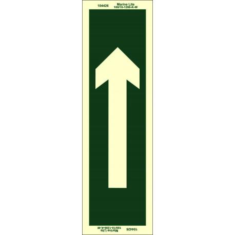 STRAIGHT ARROW  (25x7,5cm) Phot.Vin. IMO sign 104426