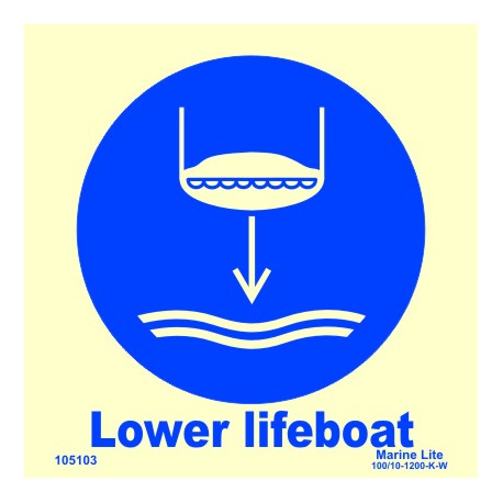 LOWER LIFEBOAT  (15x15cm) Phot.Vin. IMO sign 105103