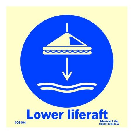 LOWER LIFERAFT  (15x15cm) Phot.Vin. IMO sign 105104