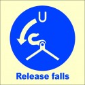 RELEASE FALLS  (15x15cm) Phot.Vin. IMO sign 105106