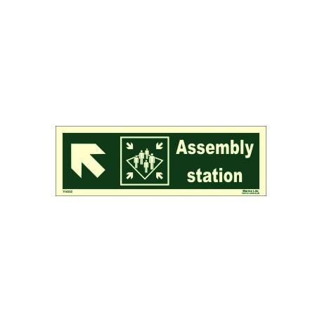 ASSEMBLY STATION SIDE LEFT UP  (10x30cm) Phot.Vin. IMO sign 114322