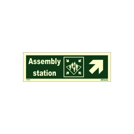 ASSEMBLY STATION SIDE RIGHT UP  (10x30cm) Phot.Vin. IMO sign 114323