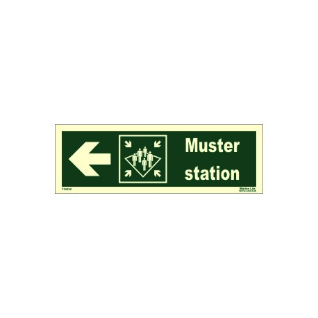 MUSTER STATION SIDE LEFT  (10x30cm) Phot.Vin. IMO sign 114334