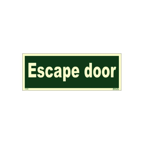 ESCAPE DOOR  (10x30cm) Phot.Vin. IMO sign 114343