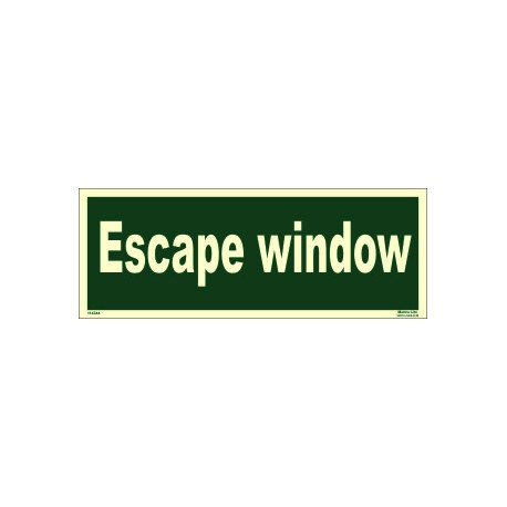 ESCAPE WINDOW  (10x30cm) Phot.Vin. IMO sign 114344