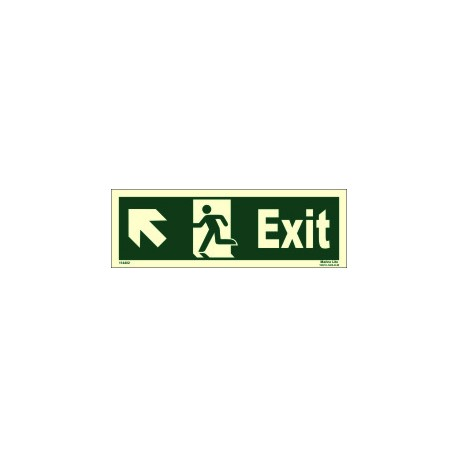 EXIT MAN RUNNING UPARROW SIDE LEFT (10x30cm) Phot.Vin. IMO sign 114402