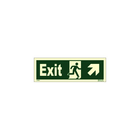 EXIT MAN RUN.ARROW UP SIDE RIGHT (10x30cm) Phot.Vin. IMO sign 114403