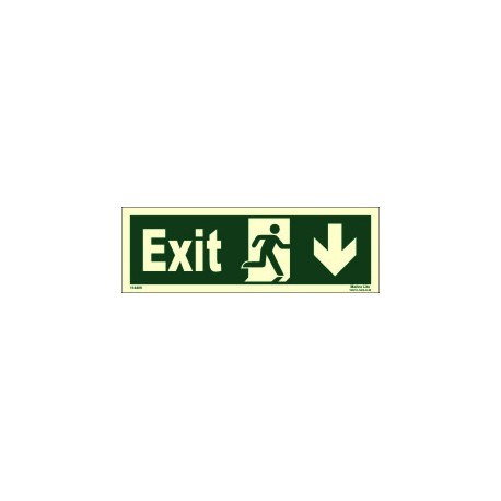 EXIT/RUN RIGHT/ARROW RIGHT DOWN  (10x30cm) Phot.Vin. IMO sign 114409