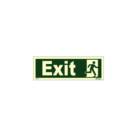 EXIT/RUN MAN RIGHT  (10x30cm) Phot.Vin. IMO sign 114411