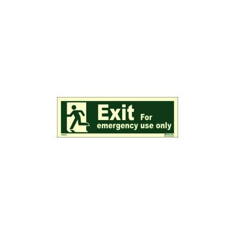 EMERGENCY EXIT/EXIT MAN LEFT (10x30cm) Phot.Vin. IMO sign 114412