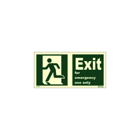 EXIT MAN RUN.LEFT FOR EM.USE ONLY (15x30cm) Phot.Vin. IMO sign 114416