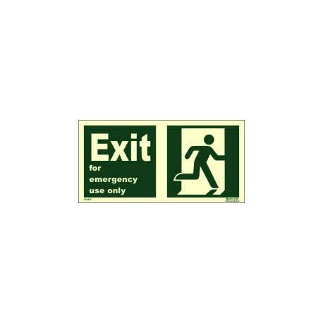 EXIT MAN RUN.RIGHT FOR EM.USE ONL (15x30cm) Phot.Vin. IMO sign 114417