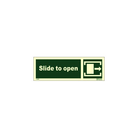 SLIDE TO OPEN RIGHT  (10x30cm) Phot.Vin. IMO sign 114483