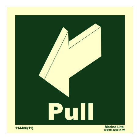 PULL DOWN SIDE LEFT  (15x15cm) Phot.Vin. IMO sign 114486