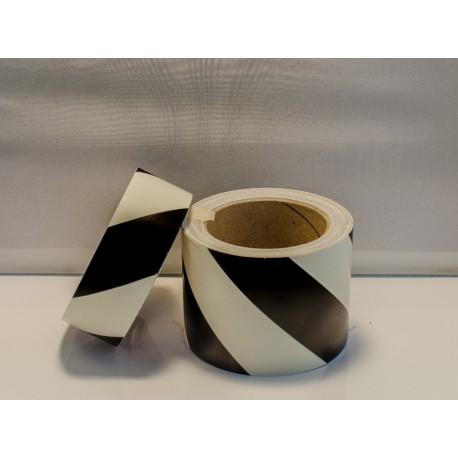 BLACK DIAGONAL TAPE  (8cmx10m) Phot.Vin. IMO sign 122048