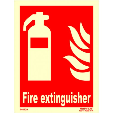 FIRE EXTINGUISHER  (20x15cm) Phot.Vin. IMO sign 146120