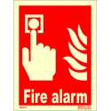 FIRE ALARM  (20x15cm) Phot.Vin. IMO sign 146121