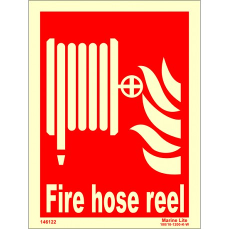 FIRE HOSE REEL  (20x15cm) Phot.Vin. IMO sign 146122