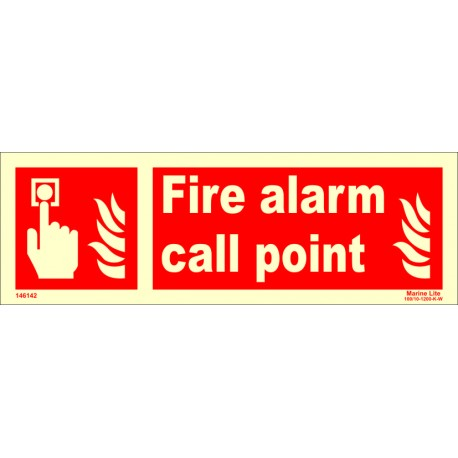 FIRE ALARM CALL POINT  (10x30cm) Phot.Vin. IMO sign 146142