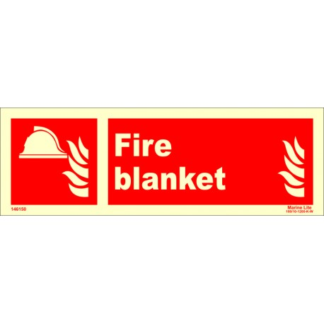 FIRE BLANKET  (10x30cm) Phot.Vin. IMO sign 146150