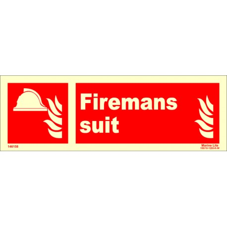 FIREMANS SUIT  (10x30cm) Phot.Vin. IMO sign 146158