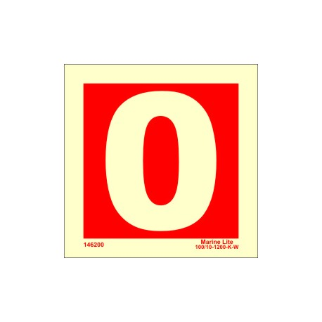 NUMBER 0  (10x10cm) Phot.Vin. IMO sign 146200
