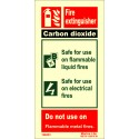FIRE EXTINGUISHER CO2  (20x10cm) Phot.Vin. IMO sign 146433